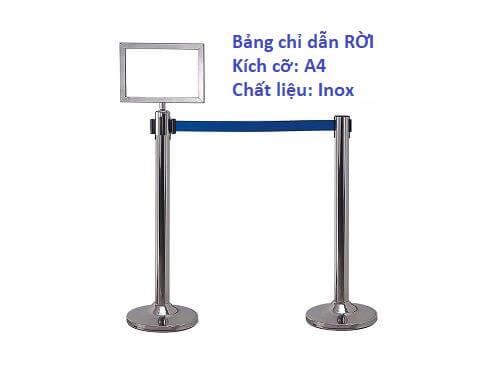 Bảng chỉ dẫn thông báo cột chắn Inox Rời