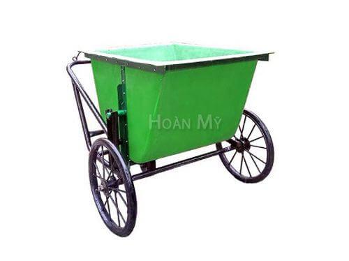 xe gom rác 400 lít bằng composite