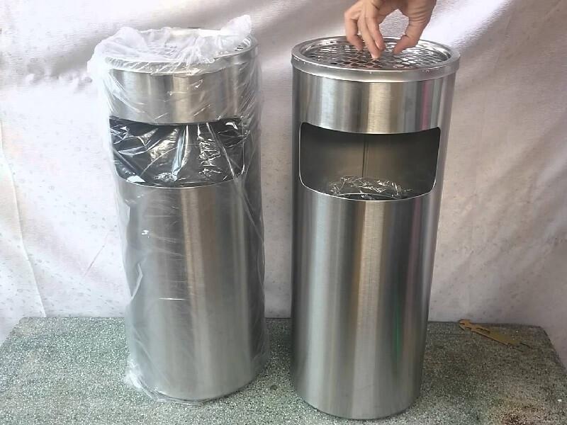 thùng rác inox gạt tàn TNF